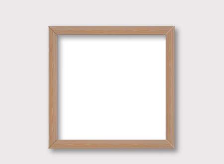 Photo for Rustic wooden frame mockup design - Royalty Free Image