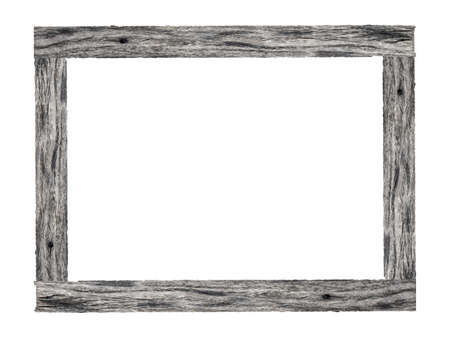 Photo pour Wooden picture frame isolated on white background. - image libre de droit