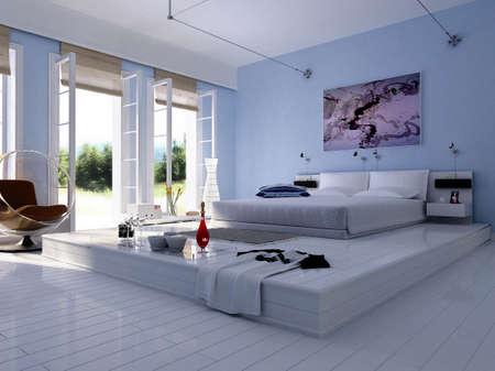 3d rendering of the modern bedroom