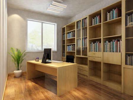 Photo pour 3d render interior of  study room - image libre de droit