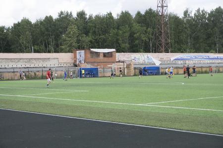 football practice on the field