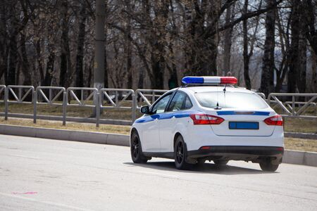 Police car-lights off cop vehicle law auto