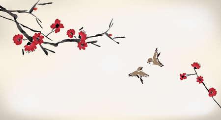Illustration pour blossom painting - image libre de droit
