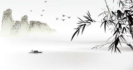 Illustration pour Chinese painting  - image libre de droit