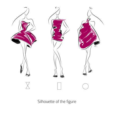 Vector fashion model. Sketch silhouette figure. Hand draw model. Vector fashion style
