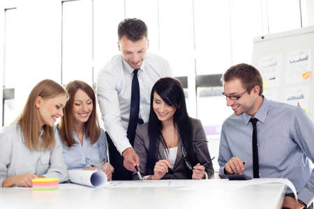 Foto per Group of architects working at office. - Immagine Royalty Free