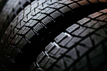 Photo pour Stack of snow tires - image libre de droit