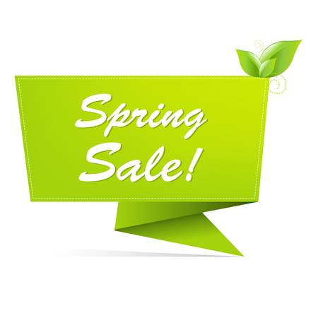 Illustration for Sale Spring Banner, Isolated On White Background - Royalty Free Image