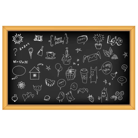 School Board With Hand Drawn, Isolated On White Backgroundの素材 [FY31010595884]
