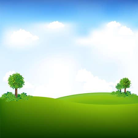 Illustration pour Sky And Landscape, Vector Illustration - image libre de droit