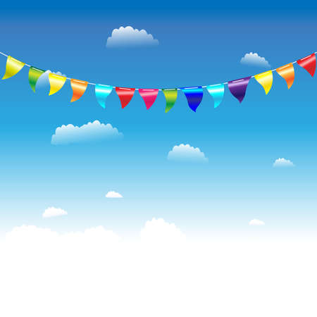 Birthday Flags, Vector Illustration