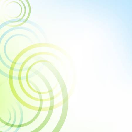 Pastel Green And Blue Background With Circles