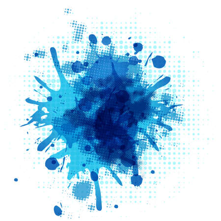 Abstract Blue Blob, Isolated On White Background, Vector Illustration