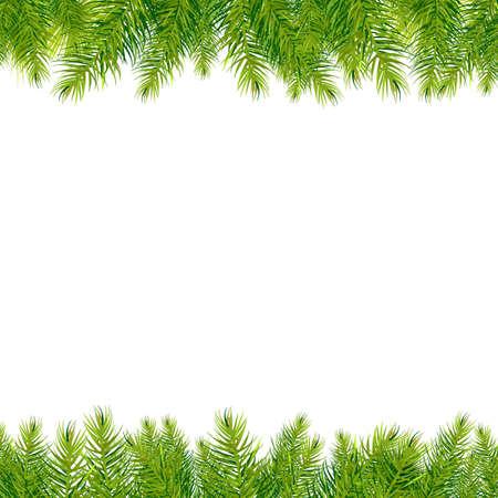 Illustration pour Christmas Tree Borders, Isolated On White Background, Illustration - image libre de droit