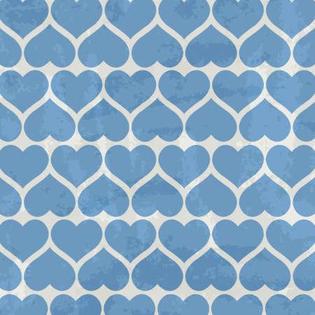 Blue Heart Background, Vector Illustration