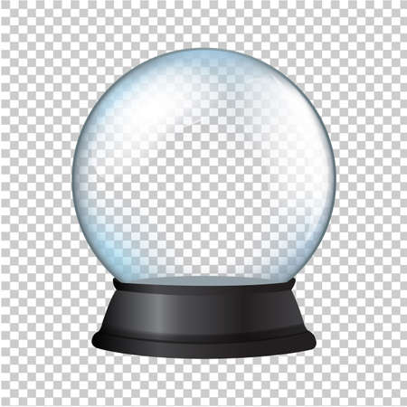 Illustration pour Snow Globe Isolated In Transparent Background - image libre de droit
