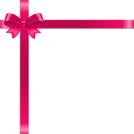 Illustration pour Pink Bow With Ribbon With Gradient Mesh, Vector Illustration - image libre de droit