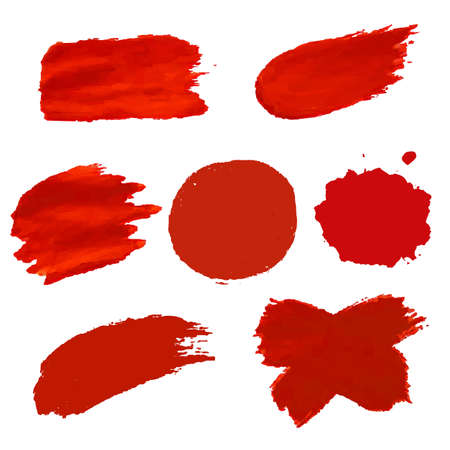 Illustration for Red Blots Isolated, Vector Illustration - Royalty Free Image
