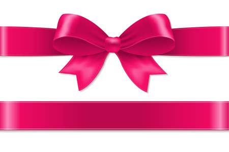 Illustration pour Pink Bow With Gradient Mesh, Vector Illustration - image libre de droit