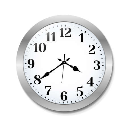Illustration pour Clock, Vector Illustration - image libre de droit