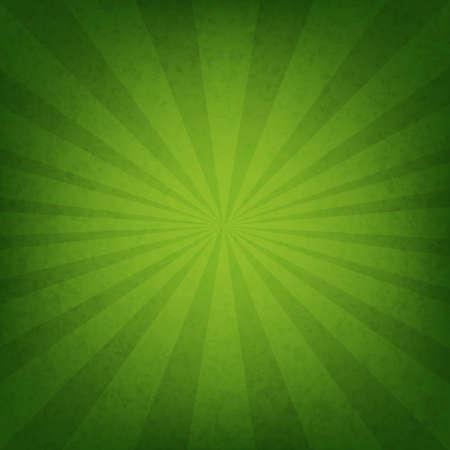 Ilustración de Green Sunburst Wallpaper With Gradient Mesh, Vector Illustration - Imagen libre de derechos