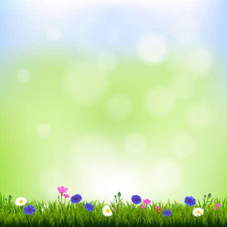 Illustration pour Spring Background With Gradient Mesh, Vector Illustration - image libre de droit