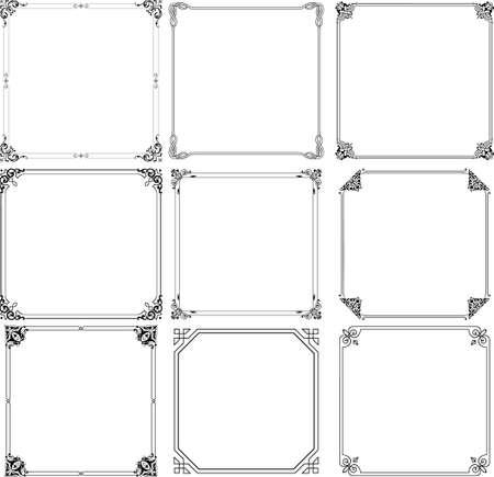 Decorative frames on white