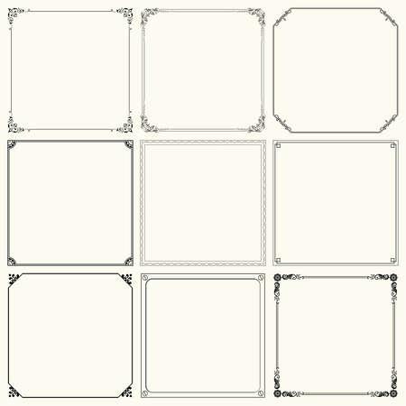 Set of decorative frames  set 19