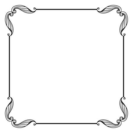 Illustration for Decorative vector frame - Vector - Royalty Free Image