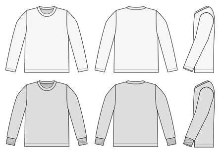 Ilustración de Set of long sleeve shirts icon. - Imagen libre de derechos