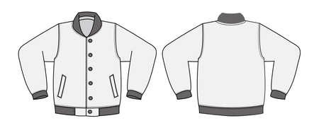Illustration pour Illustration of varsity jacket on white background. - image libre de droit