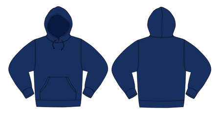 Illustration pour Illustration of hoodie in navy blue. - image libre de droit