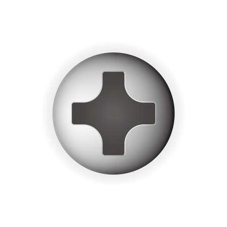 Illustration pour screw head Vector illustration isolated on white background. - image libre de droit