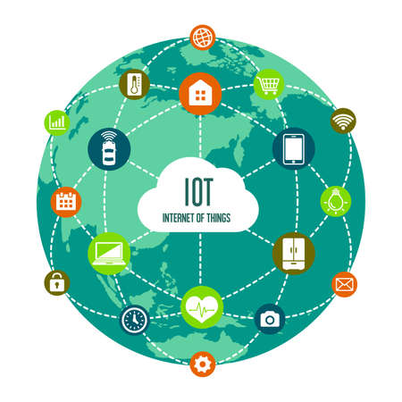 Illustration for IoT (internet of things) image illustration - Royalty Free Image