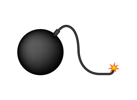 simple bomb illustration