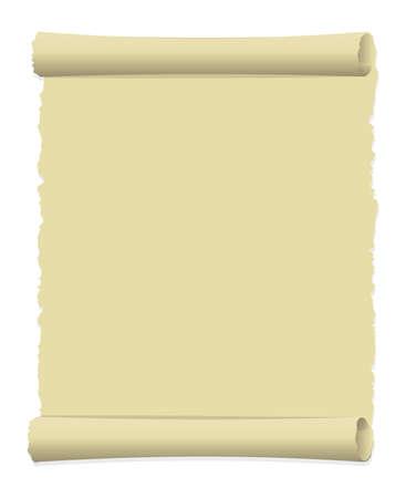 Illustration pour Tattered old paper illustration (curled edge) / portrait - image libre de droit