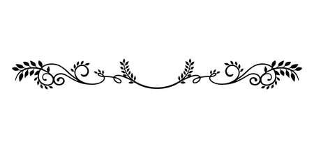 Illustration for decorative vintage border illustration (natural plant) - Royalty Free Image
