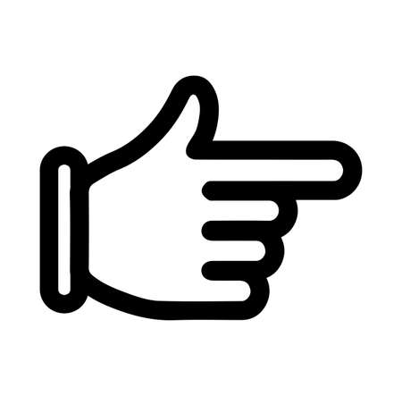 Ilustración de finger arrow icon - Imagen libre de derechos