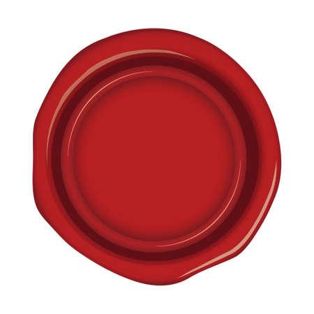 Illustration pour sealing wax, stamp illustration (red) - image libre de droit