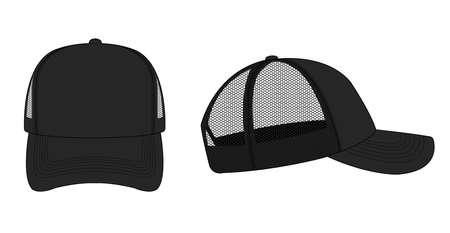 Illustration for Trucker cap/mesh cap template illustration - Royalty Free Image
