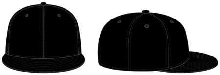 Illustration for Baseball cap template vector illustration / black - Royalty Free Image
