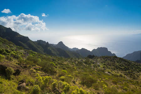 Nature near Masca Village, Tenerife -  mountains and Atlantic ocean