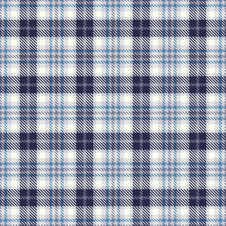 Illustration pour Tartan seamless vector pattern. Checkered plaid texture. Geometrical square background for fabric - image libre de droit