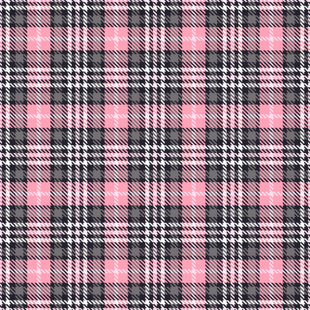 Foto de Pink tartan seamless vector patterns. Checkered plaid texture. Pink and gray. Geometrical simple square background for fabric textile cloth, clothing, shirts shorts dress blanket, wrapping design - Imagen libre de derechos