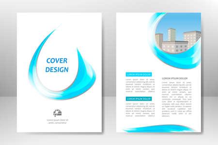 Illustration pour Blue vector template design for business brochure, flyer, poster, booklet, presentation, annual report, magazine cover, team educational training. A4 - image libre de droit