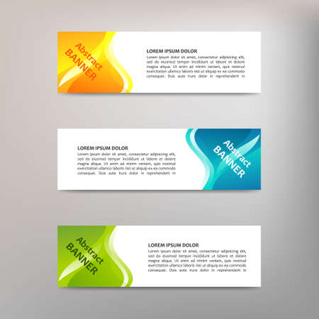 Illustration for Vector abstract design banner template - Royalty Free Image