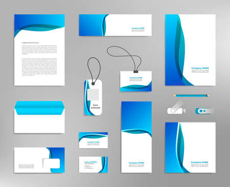 Illustration pour Corporate identity design template, business stationery mockup for company branding - image libre de droit