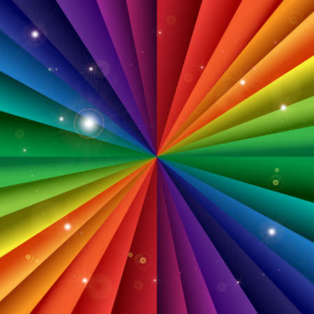 Bright vector rainbow celebration holiday banner, vector background