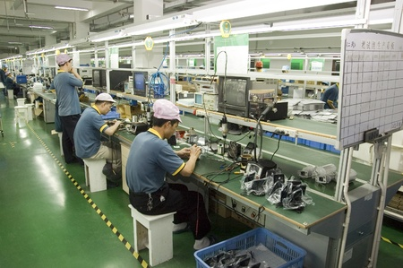 CHINA, SHENZHEN - APRIL 20: The biggest CCTV, surveillance camera producer in China, factory tour on April 20, 2010 in Shenzhen.