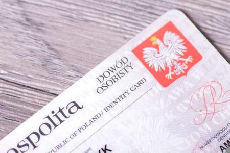 A Polish identity card